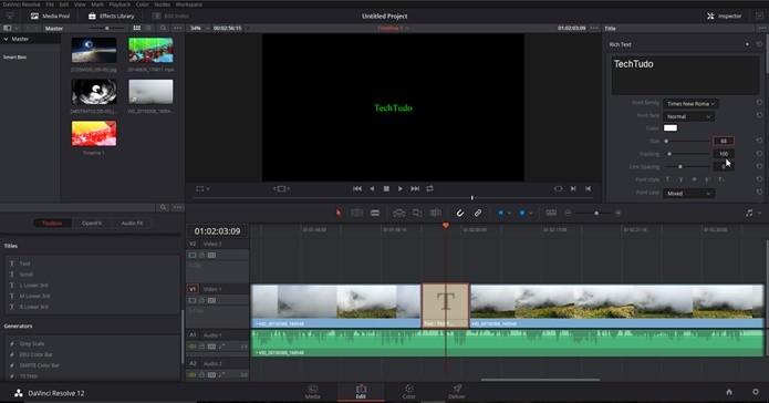 DaVinci Resolve 12 é um editor de vídeo profissional