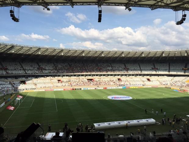 Torcida antes do início da partida no Mineirão (Foto: Fernando Martins y Miguel/Globoesporte.com)