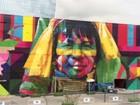 Mural de 3 mil metros no Rio chama atenção e vira point; veja vídeo
