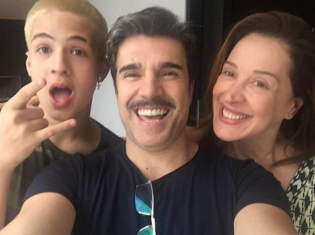 João Guilherme com Jarbas Homem de Mello e Claudia Raia (Foto: Reprodução/Instagram)