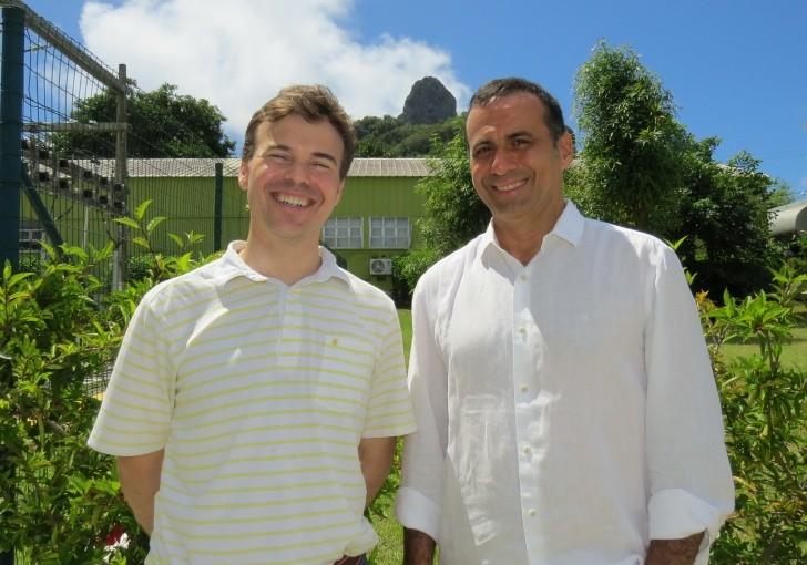 Cônsul John Barrett e secretário de Meio Ambiente Sérgio Xaviver