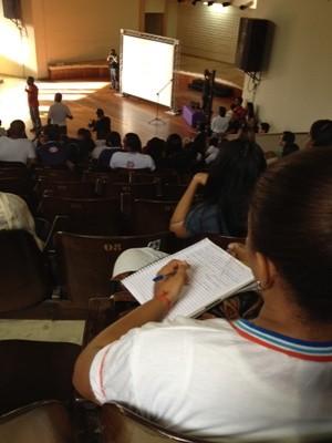Primeiro aulão Bahia Salvador (Foto: Rafaela Ribeiro/G1)