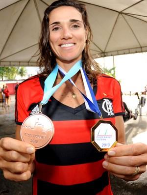 remo fabiana beltrame medalha flamengo (Foto: Alexandre Vidal / FlaImagem)