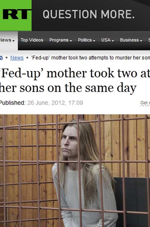 A russa Galina Ryabkova, 30, suspeita de ter matados os dois filhos neste domingo (24) (Foto: Reprodução)