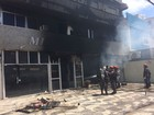 Incêndio destrói loja de flores em prédio no bairro da Pituba