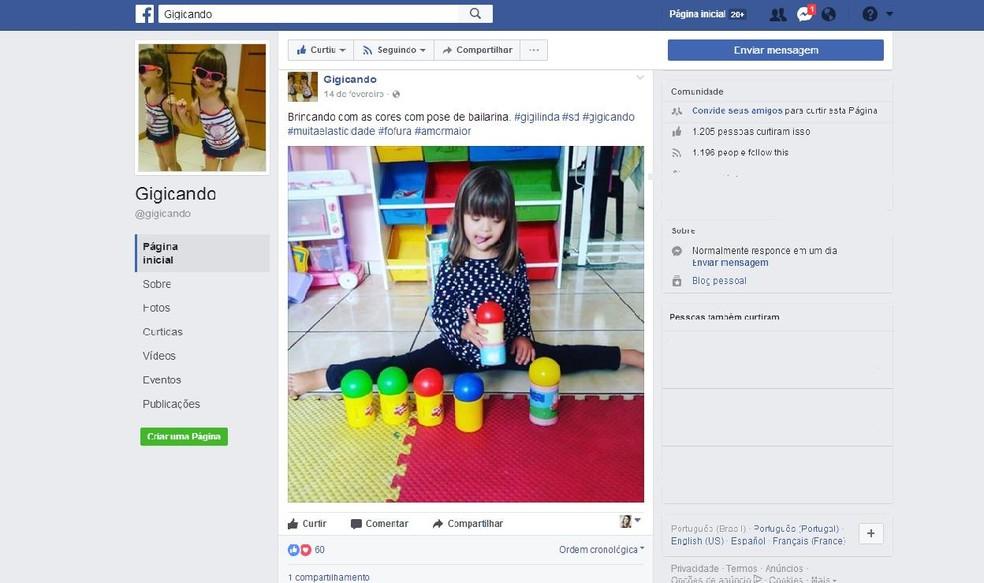 Página  tem mais de mil seguidores e mostra dia a dia de uma criança com Síndrome de Down (Foto: Reprodução / Facebook)