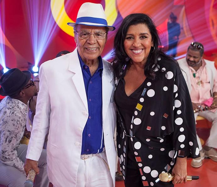 Monarco também particiou do 'Esquenta!' com Regina Casé (Foto: João Januário/Globo)