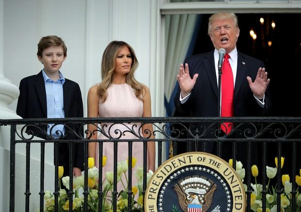 Barron, Melania e Donald Trump (Foto: Getty Images)