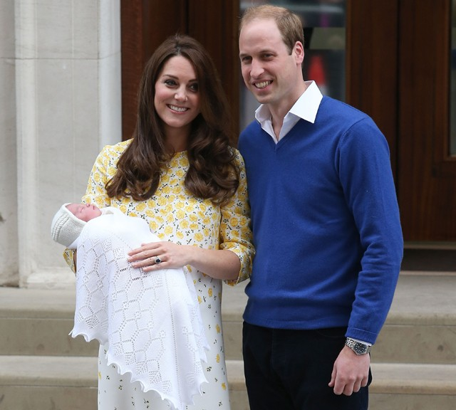 kate e william com a filha (Foto: Getty Images)