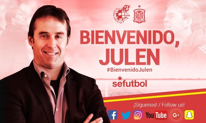 Julen Lopetegui seleção Espanha (Foto  Reprodução Twitter) . 9dc00e149135b