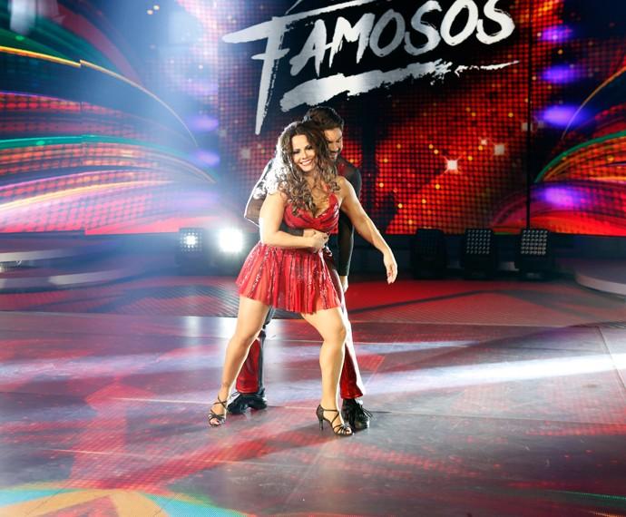 Em sua estreia no 'Dança dos Famosos', Viviane Araújo encantou plateia e jurados (Foto: Ellen Soares/Gshow)