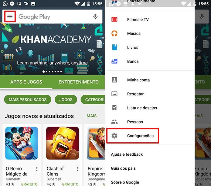 Play Store pode ter leitura de emails do Gmail desativada em configurações (Foto: Reprodução/Elson de Souza)