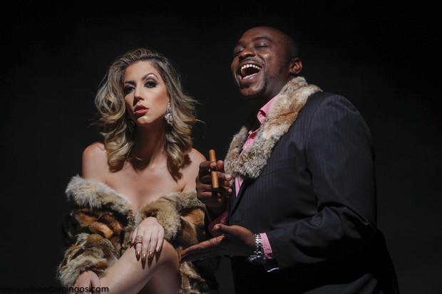 Fernanda Liberato e William Blackout  (Foto: Nilson Domingos)