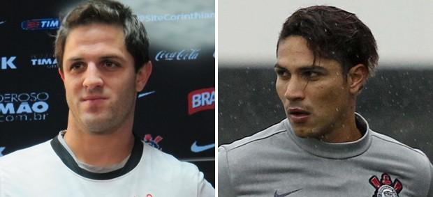 Martinez e Guerrero Corinthians (Foto: Montagem sobre foto da Futura Press)