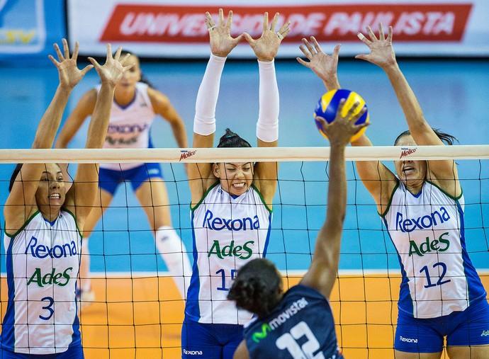 Rexona-AdeS x San Martin (PER) semifinal do Sul-Americano de clubes Vôlei (Foto: Marcio Rodrigues / MPIX)