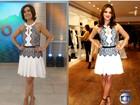 Fátima brinca sobre look idêntico ao de Bruna Marquezine: 'Pose está igual'