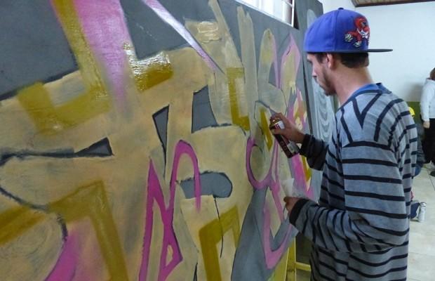 Grafite começou cedo no Periférica da Paz (Foto: Divulgação/RPC TV)