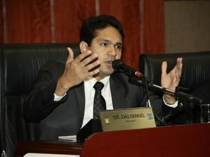 Vereador João Emanuel (PSD) é acusado de improbidade administrativa. (Foto: Otmar de Oliveira / Câmara de Cuiabá)