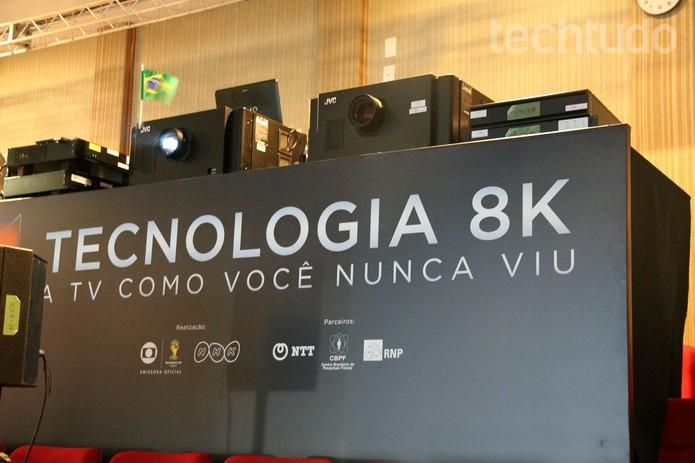 Sistema de projeção 8K: volume de dados proporciona a qualidade incrível (Foto: Taysa Coelho / TechTudo)