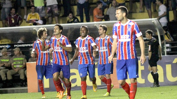 Guilherme Santos comemora gol do Bahia contra o Criciuma  (Foto: Fernando Ribeiro / Futura Press)