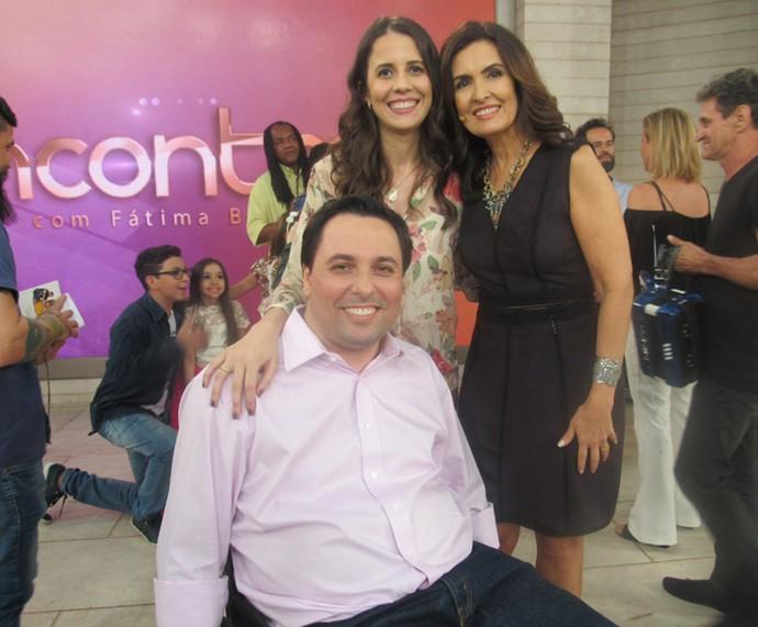 Casal de convidados do programa com a Fátima  (Foto: Priscilla Massena/Gshow)