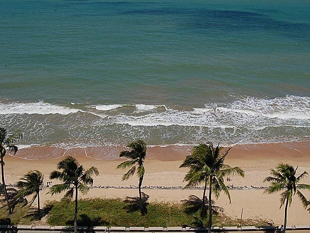 Praia de Boa Viagem, no Recife (Foto: Luna Markman / G1)