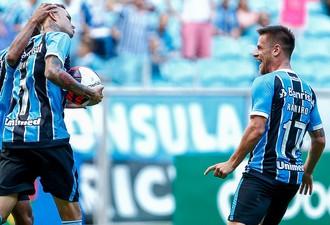 Luan Grêmio x Veranópolis (Foto: Lucas Uebel/Divulgação Grêmio)