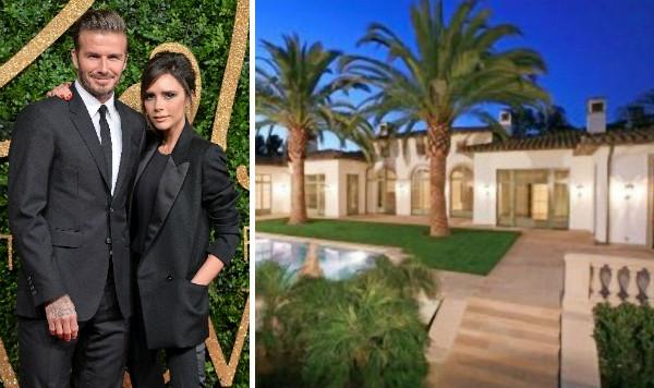 David Beckham e Victoria Beckham e a casa que colocaram a venda (Foto: Getty Images/Reprodução)