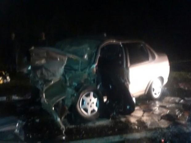 Acidente entre dois carros mata três homens em Palmeira (Foto: Arquivo pessoal)