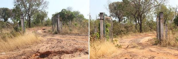 Moradora fotografou o mesmo local antes e depois da manutenção realizada pelo governo no dia 5 deste mês (Foto: Kézia Naves/Divulgação)