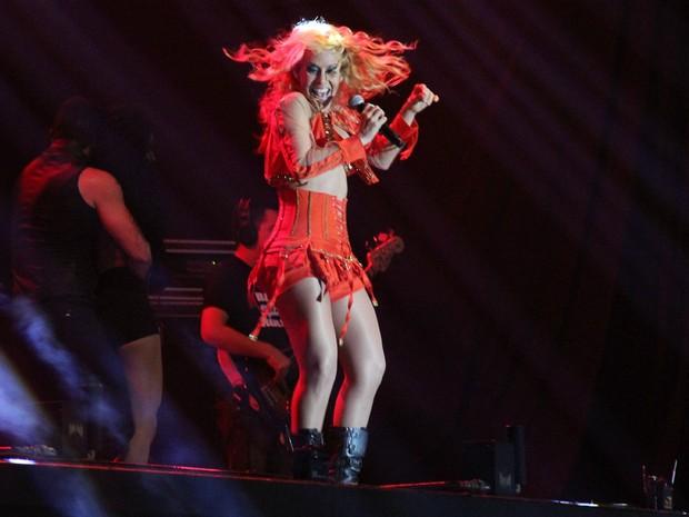 Joelma dançou e cantou durante todo show (Foto: Jamile Alves/G1 AM)