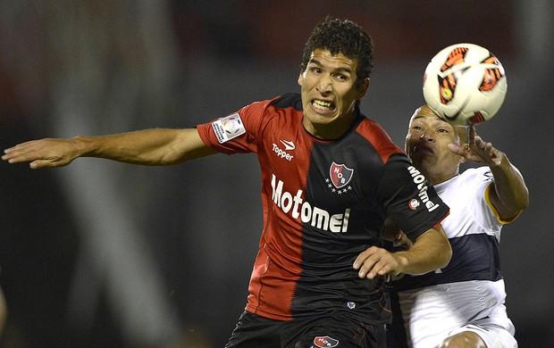 Marcos Caceres jogo Newells Old Boys e Boca Juniors (Foto: AFP)