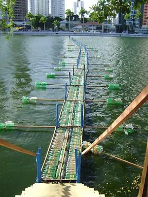 Ponte de 150 metros de comprimento está em fase de finalização (Foto: Flávio Roberto/TV Paraíba)