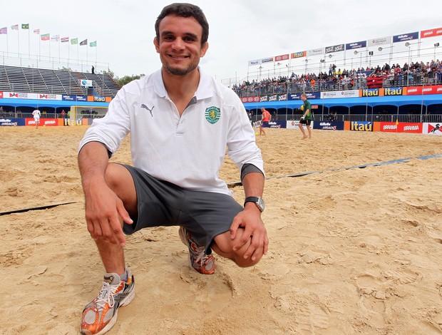 Judoca português Pedro Dias diretor equipe do Sporting de Portugal no II Mundialito de Clubes de futebol de areia em São Paulo (Foto: Gaspar Nóbrega/Inovafoto)