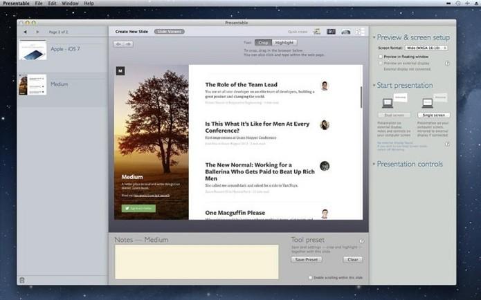 Presentable é um editor de slides gratuito para Mac (Foto: Divulgação)