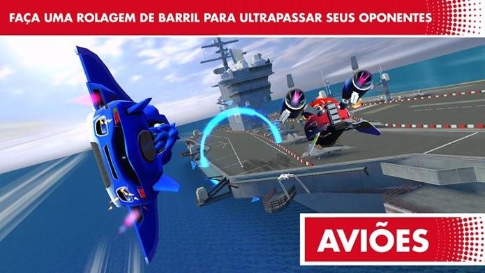 Sonic Racing Transformed é a conversão do game dos consoles para Android (Foto: Divulgação)