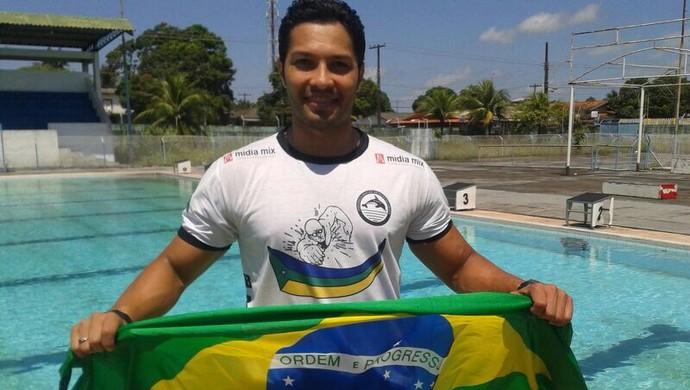 No AP, nadador viaja na madrugada de quinta para mundial no Canadá (Foto: Eliel Oliveira/Arquivo Pessoal)