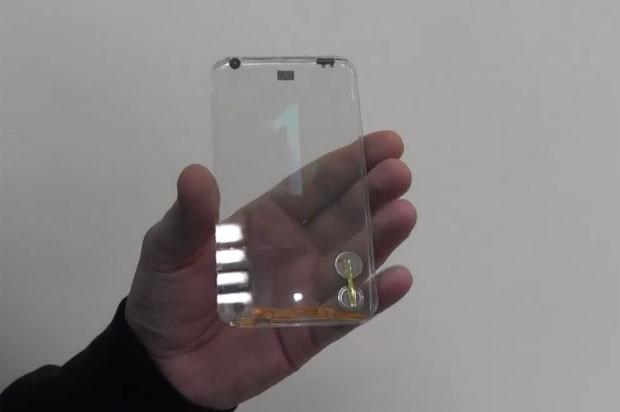 Empresa de Taiwan apresenta protótipo de smartphone transparente (Foto: Divulgação)