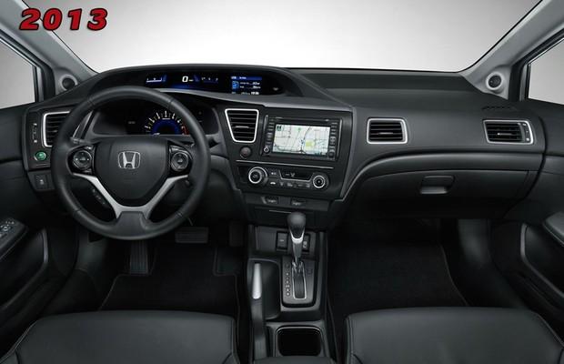 Honda Divulga Imagens Do Interior Do Civic 2013 Auto