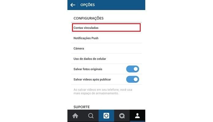 Seção de Configurações do Instagram (Foto: Reprodução/ Raquel Freire)