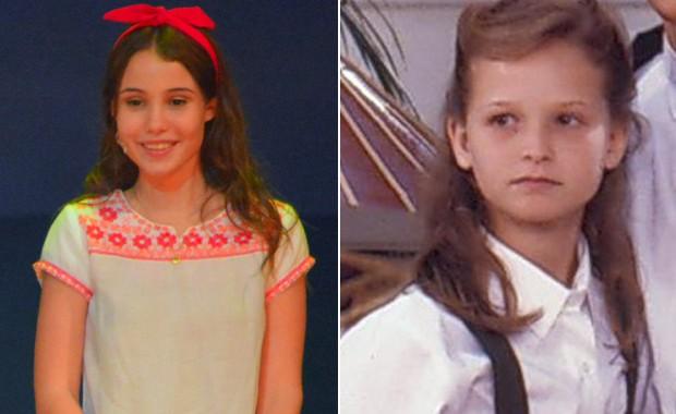Mari Cardoso e Fernanda Rodrigues caracterizadas como Isa (Foto: Divulgação)
