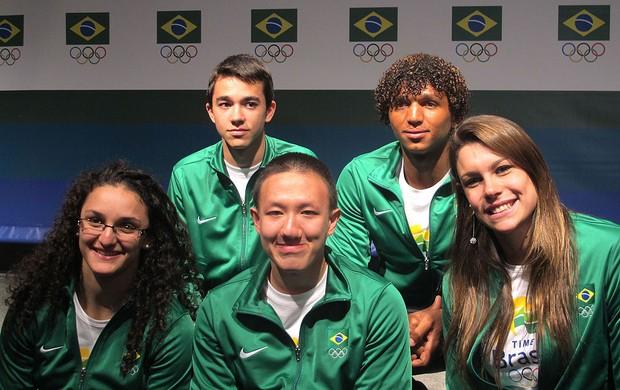 Lançamento do projeto Vivência Olímpica (Foto: Lydia Gismondi / Globoesporte.com)