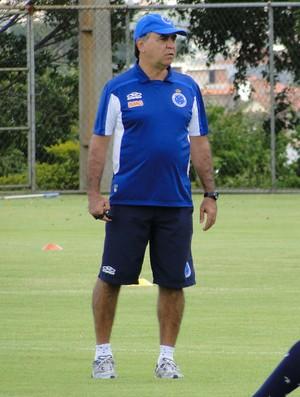 Marcelo Oliveira treino Cruzeiro (Foto: Tarcísio Badaró)