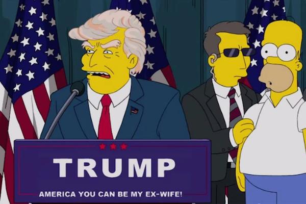 Homer Simpsons e Donald Trump em 'Os Simpsons' (Foto: Reprodução)