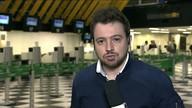 Avião bate em pássaros ao decolar do aeroporto de Congonhas em São Paulo