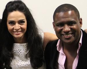 Claudia Ohana e Patrick Carvalho (Foto: Domingão do Faustão / TV Globo)