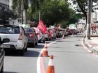 Manifestantes contra Michel Temer fazem carreata em Vitória