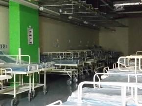 Hospital conta com 700 leitos na estrutura subterrânea (Foto: Letícia Macedo/G1)