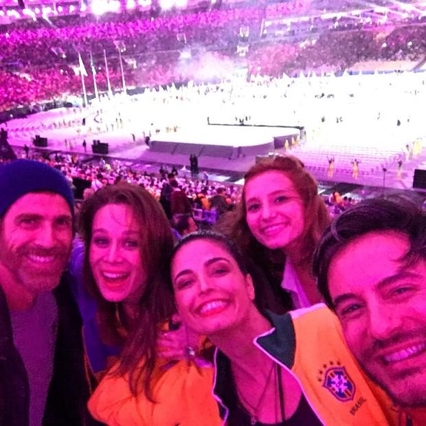 Reynaldo Gianecchini, Mariana Ximenes, Emanuelle Araújo, Ricardo Tozzi (Foto: Instagram / Reprodução)