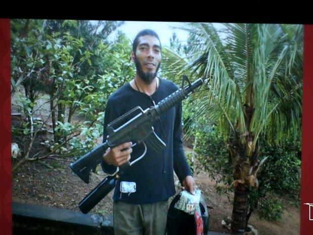 Suspeito que nasceu em São Luís, tem 42 anos e, há 13, se converteu ao Islamismo (Foto: Reprodução/TV Mirante)
